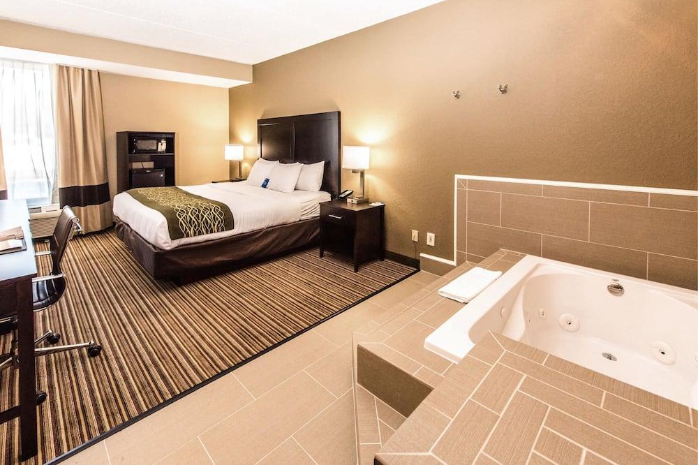 Номер, 1 двуспальная кровать «Кинг-сайз», для некурящих, гидромассажная ванна - Номер