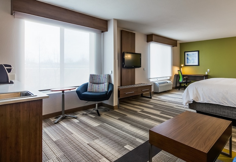 Holiday Inn Express Hotel & Suites Detroit-Farmington Hills, Northville, Executive Suite, 1 King Bed, Non Smoking, Guest Room