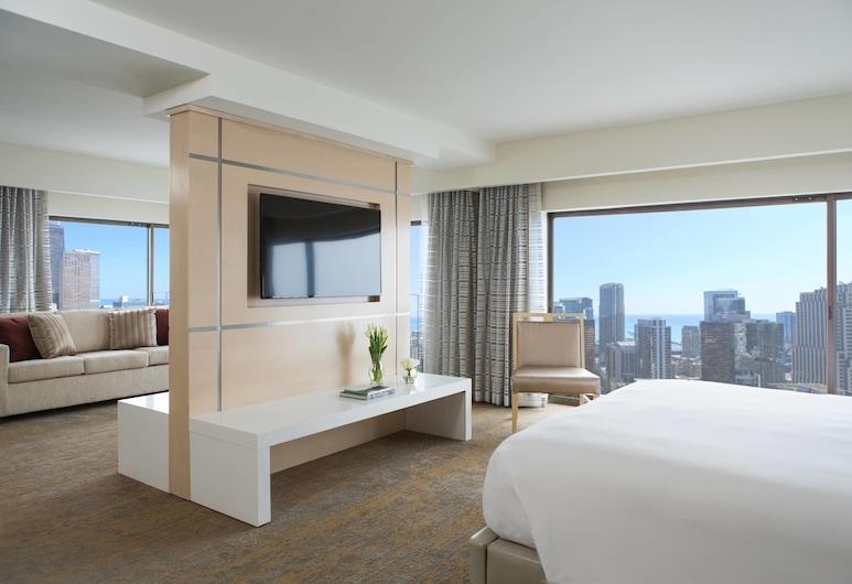 Chicago Marriott Downtown Magnificent Mile, Chicago, Sviit, 1 magamistoaga, vaade linnale (High Floor), Tuba