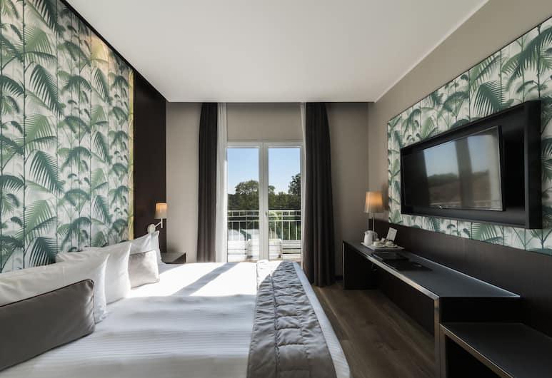 Hotel Manin, Milaan, Kamer, 1 twee- of 2 eenpersoonsbedden, uitzicht op park, Kamer