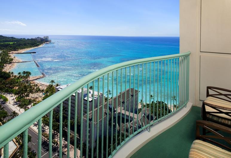 Sheraton Princess Kaiulani, Honolulu, Room, 2 Double Beds, Ocean View, Tower, Balcony