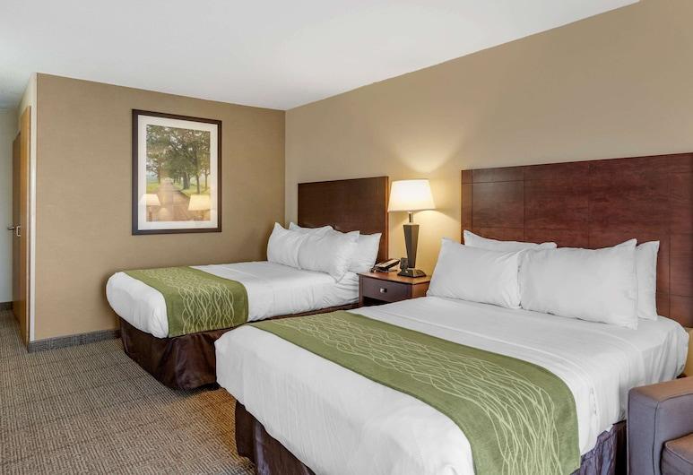 Comfort Inn, Lansing, Habitación estándar, 2 camas dobles, con acceso para silla de ruedas (Accessible Bathtub), Habitación