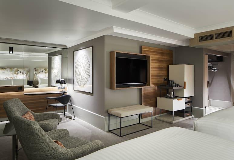 London Marriott Hotel Kensington, London, Kamar Deluks, 2 Tempat Tidur Double (Ideal for family), Kamar Tamu