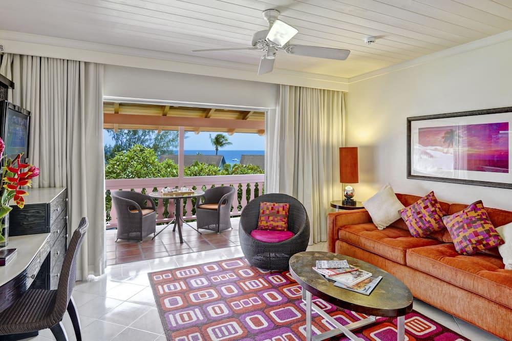 Suite, 1 Bedroom, Garden View - Living Area
