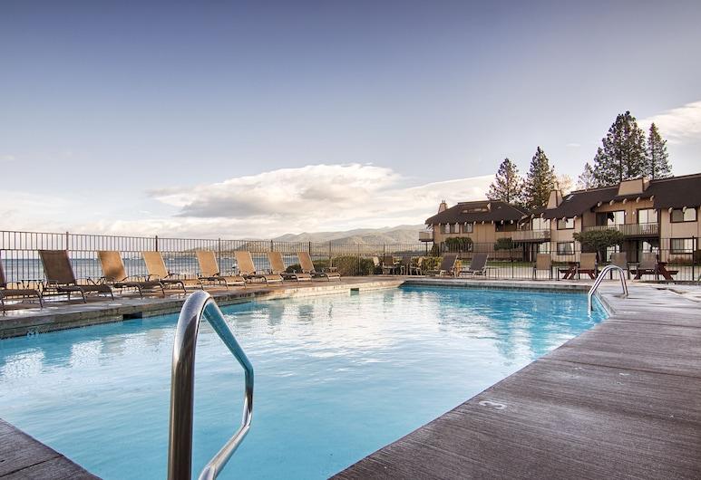 Tahoe Lakeshore Lodge & Spa, South Lake Tahoe, Standard Room, 2 Queen Beds, Lake View, Outdoor Pool
