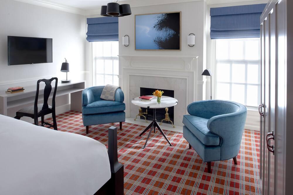 客房, 1 張特大雙人床, 非吸煙房, 轉角 - 客廳