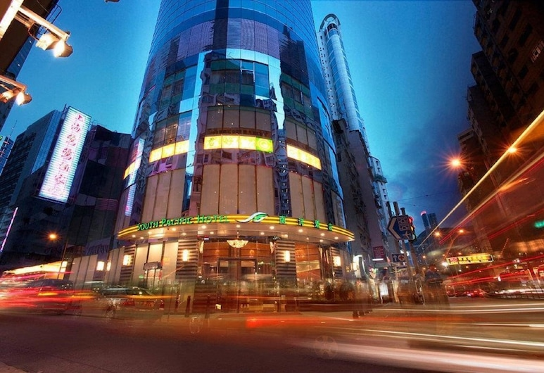 South Pacific Hotel, Hong Kong, Hotel Front – Evening/Night