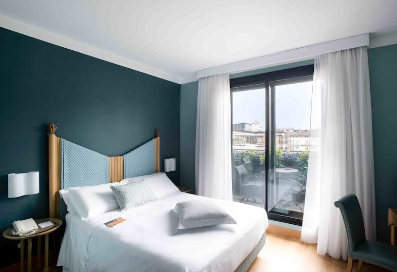 Hotel Spadari Al Duomo, Milaan, Klassieke tweepersoonskamer, 1 queensize bed, Balkon, Uitzicht op de stad, Kamer