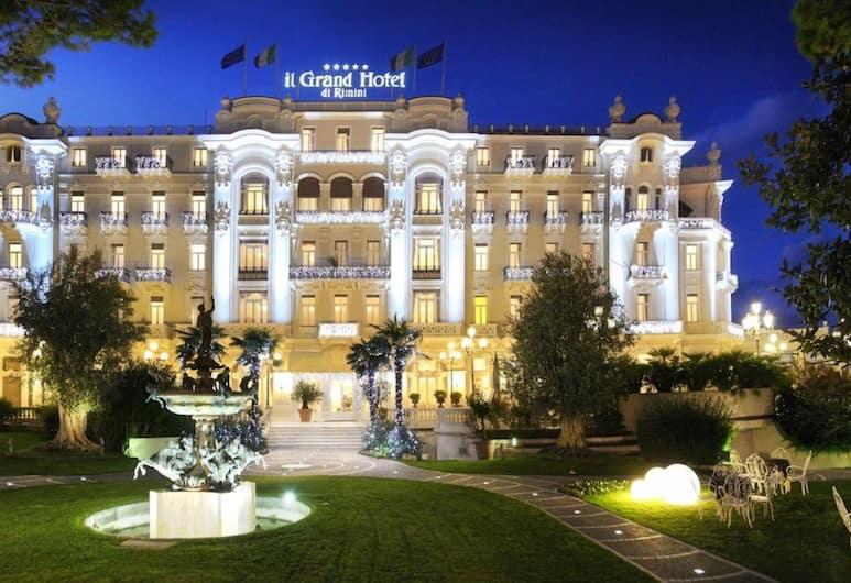 Grand Hotel Rimini, Rimini, Facciata hotel (sera/notte)