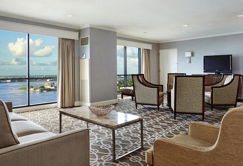 Hilton New Orleans Riverside, Nowy Orlean, Parlor, Apartament typu Suite, 1 sypialnia, Pokój