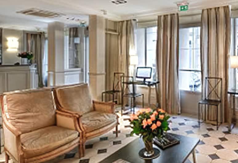 Relais Bosquet, Paris, Sitteområde i lobbyen