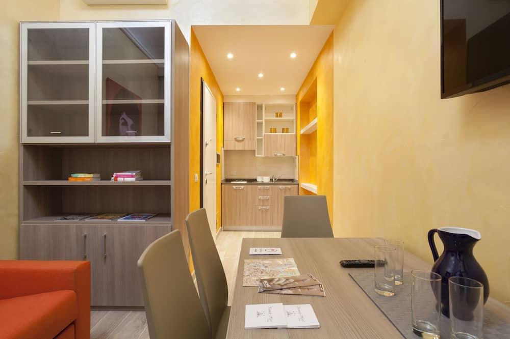 Apartmán typu City, 1 spálňa, vedľajšia budova (Via Carlo Cattaneo, 24) - Obývacie priestory
