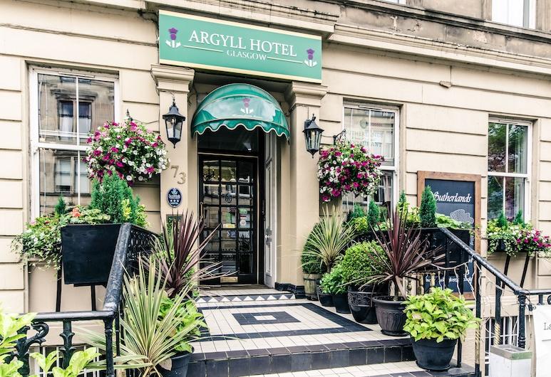 Argyll Hotel, Glasgow, Viešbučio fasadas