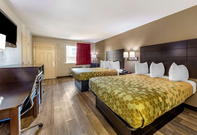 Econo Lodge Near Lackland Air Force Base - SeaWorld, San Antonio, Standard Room, 2 Queen Beds, Non Smoking, Guest Room