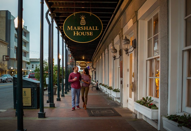 The Marshall House,Historic Inns of Savannah Collection, Savannah, Hotel Front – Evening/Night
