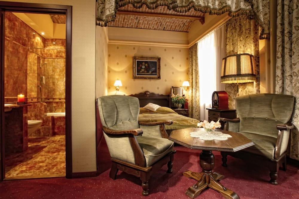חדר קומפורט זוגי או טווין - אזור מגורים