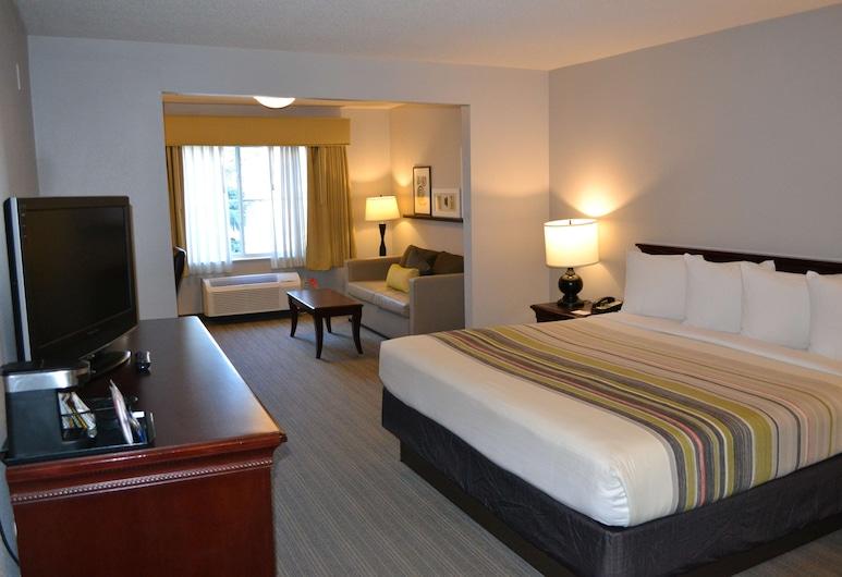 Country Inn & Suites by Radisson, Gurnee, IL, Gerni, Studijos tipo numeris, 1 labai didelė dvigulė lova, su patogumais neįgaliesiems, Nerūkantiesiems, Svečių kambarys