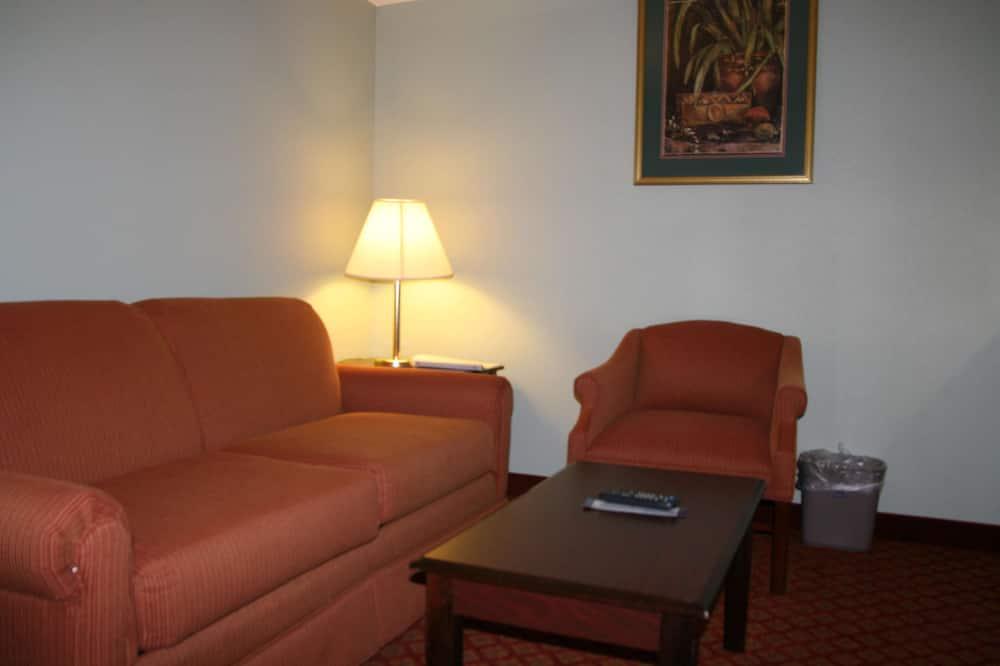 Suite met 1 kingsize bed, bubbelbad, niet-roken - Woonruimte