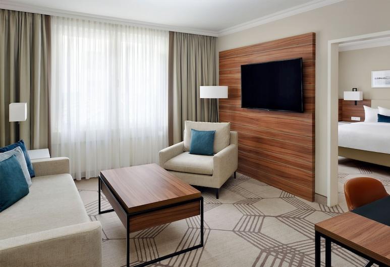 Prague Marriott Hotel, Prag, Deluxe Süit, 1 Yatak Odası, Sigara İçilmez, Oda