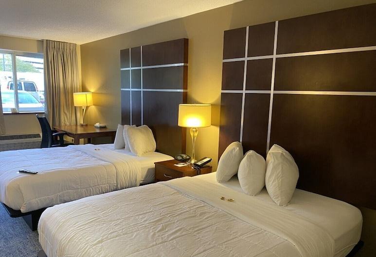 Cherokee Grand Hotel, צ'רוקי, חדר פרמייר, 2 מיטות קווין, ללא עישון, נוף להר, חדר אורחים