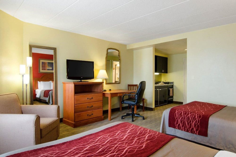 Efficiency Room with 2 Double Beds - Non-Smoking - Guest Room
