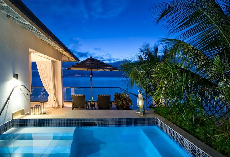 The Sandpiper, Holetown, Luxus lakosztály, 1 hálószobával, privát medence, kilátással az óceánra (Tree Top Curlew), Erkély