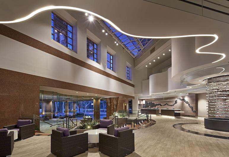 Hilton Long Beach Hotel, Long Beach, Priestory na sedenie v hale