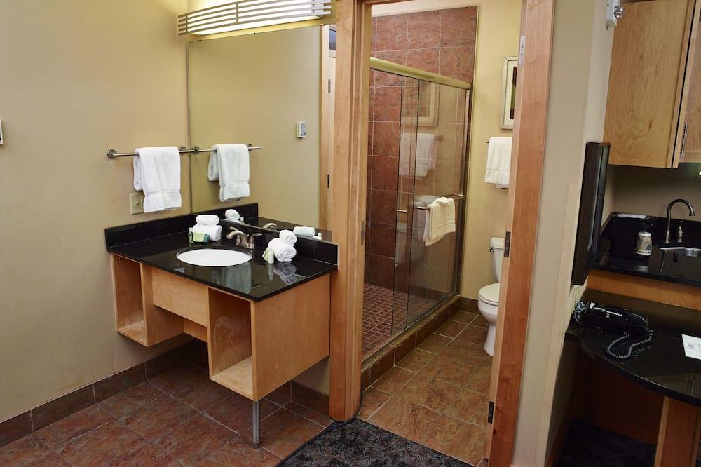 ห้องพัก, เตียงคิงไซส์ 1 เตียง, พร้อมสิ่งอำนวยความสะดวกสำหรับผู้พิการ, ปลอดบุหรี่ (Garden view) - ห้องน้ำ