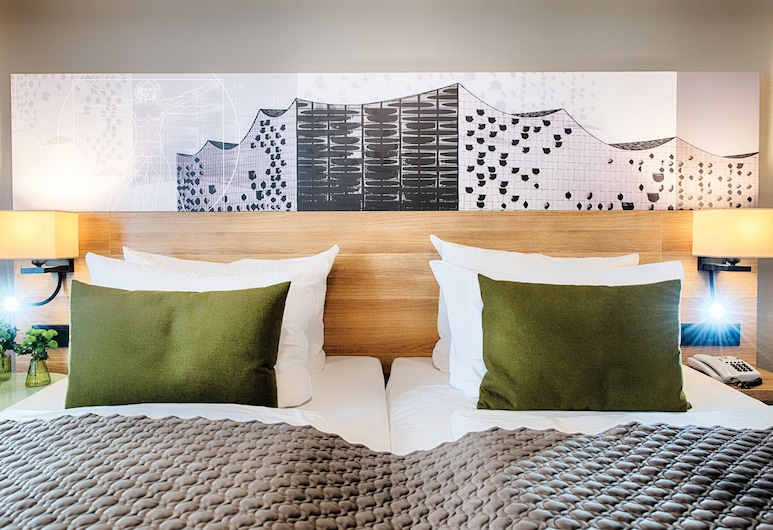 Leonardo Hotel Hamburg Stillhorn, Hamburg, Comfort driepersoonskamer, Kamer