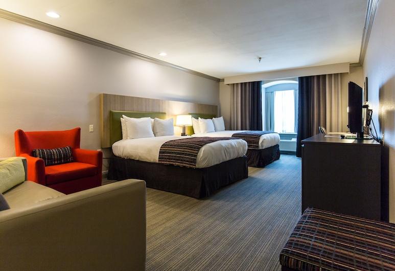Country Inn & Suites by Radisson, Metairie (New Orleans), LA, Metairie, Suite estudio, Varias camas, para no fumadores (2 Queen Beds with Sofa Bed), Habitación