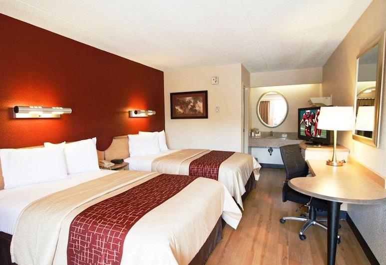 Red Roof Inn Enfield, Enfield, Quarto Deluxe, 2 camas de casal, Não-fumadores, Quarto