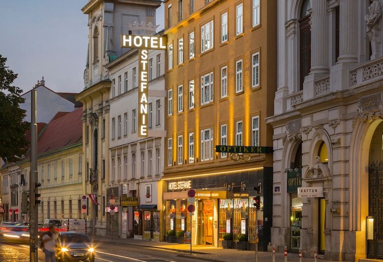 Hotel Stefanie, Viena, Fachada do hotel