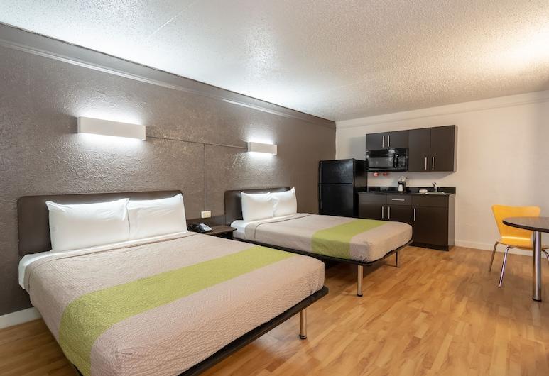 Studio 6 Fort Worth, TX - West Medical Center, פורט וורת', חדר דה-לוקס, 2 מיטות זוגיות, ללא עישון, מטבחון, מטבחון בחדר