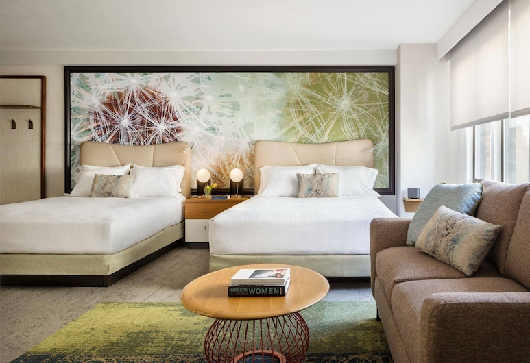 Gardens Suites Hotel by Affinia, New York, Junior Suite, 2 Queen Beds, Accessible, Guest Room
