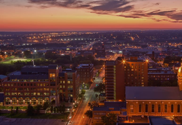 Kansas City Marriott Downtown, Канзас-Сити, Вид с воздуха