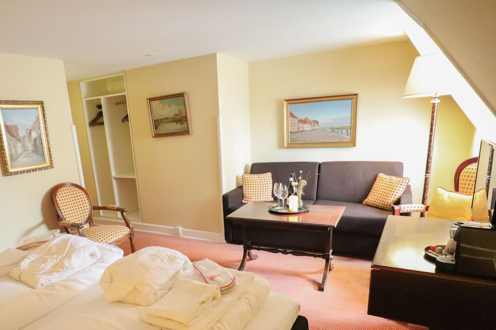 Comfort-værelse - 1 kingsize-seng - Opholdsområde