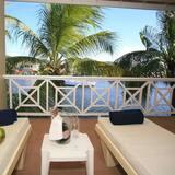 Luksus-suite - 1 kingsize-seng - mod havet - Altan