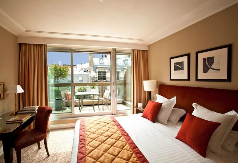 Warwick Paris - formerly Hôtel Warwick Champs-Elysées, Παρίσι, Deluxe Δωμάτιο, 1 King Κρεβάτι, Βεράντα, Δωμάτιο επισκεπτών