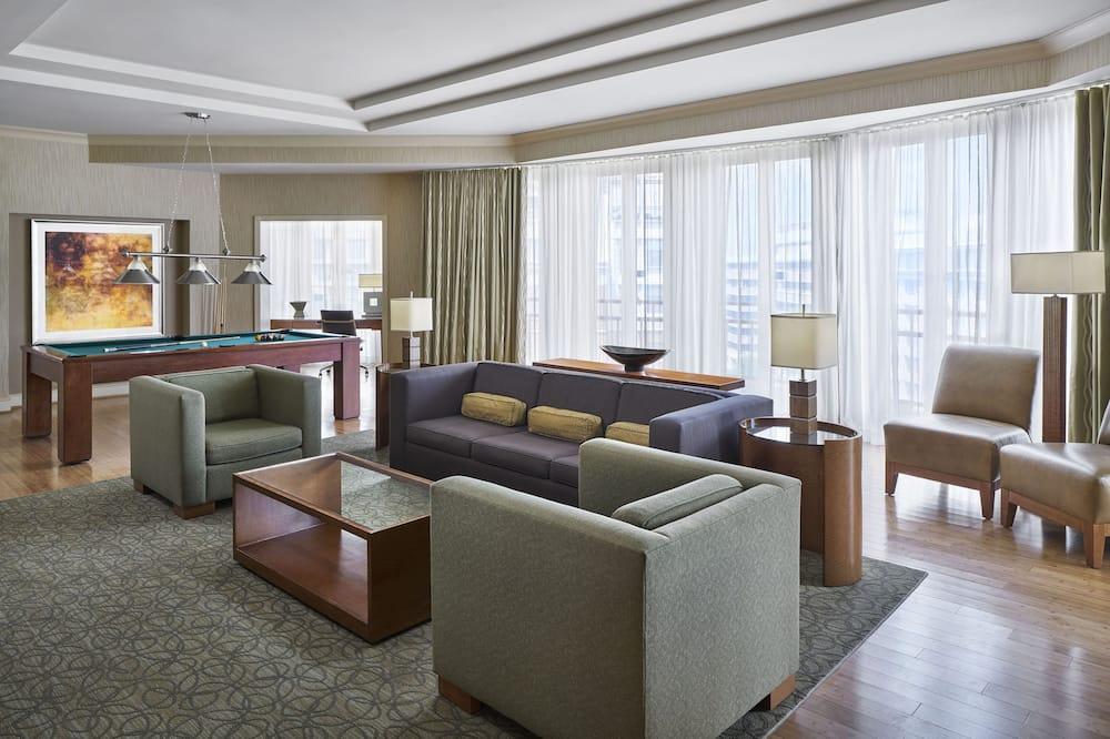 Prezidentinės klasės numeris, 1 labai didelė dvigulė lova, Nerūkantiesiems, vaizdas į miestą - Vaizdas į miestą