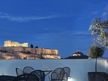 Fotografia do Acropolis Hill em Atenas