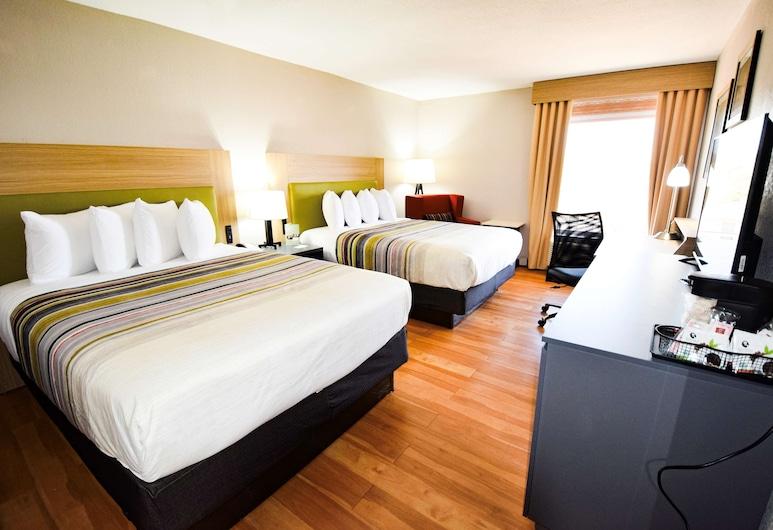 Country Inn & Suites by Radisson, North Little Rock, AR, North Little Rock, Izba, 2 veľké dvojlôžka, bezbariérová izba, nefajčiarska izba (Rollin Shower), Hosťovská izba