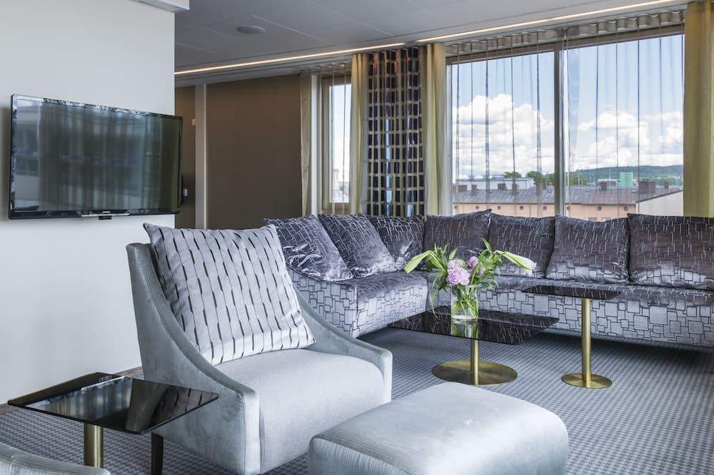 Suite de diseño, 1 cama King size, para no fumadores, vista al lago - Sala de estar