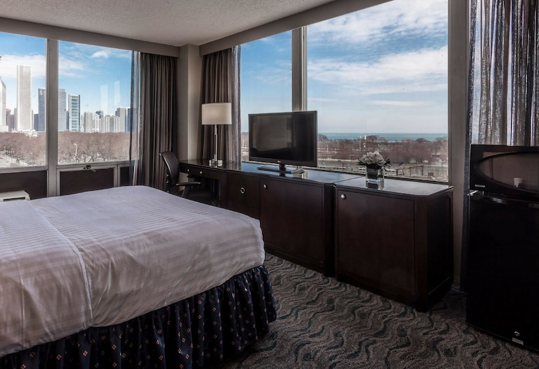 Best Western Grant Park Hotel, Chicago, Standard Room, 1 Queen Bed, Refrigerator & Microwave, Lake View, Guest Room View