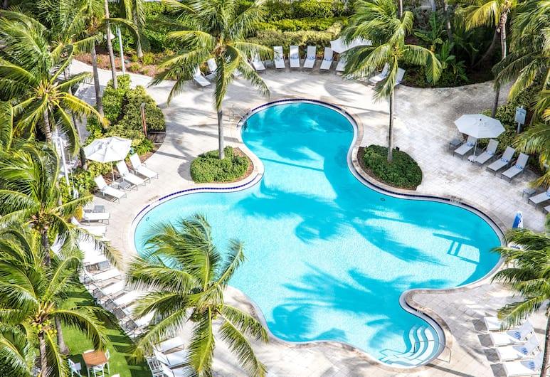 Hilton Fort Lauderdale Marina, Fort Lauderale, Oda, 1 En Büyük (King) Boy Yatak, Balkon, Havuz Manzaralı, Balkon Manzarası