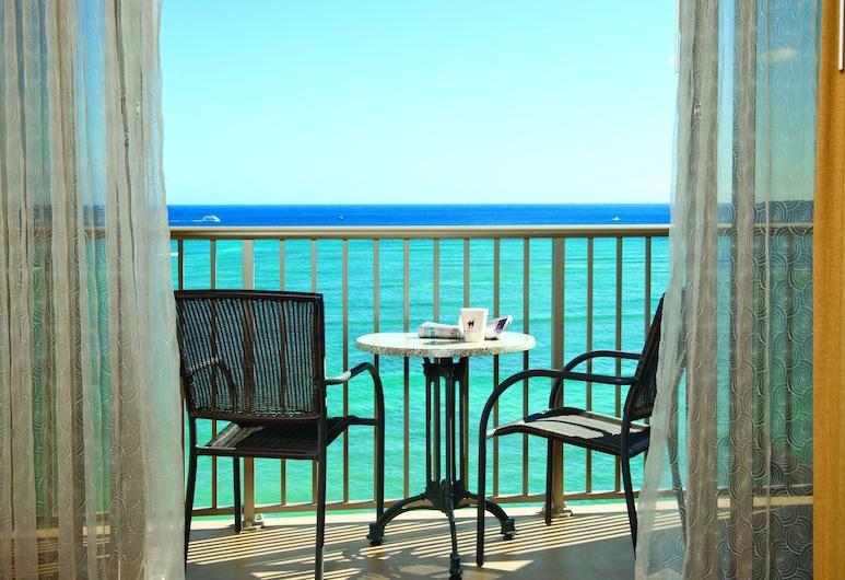 Outrigger Reef Waikiki Beach Resort, Honolulu, Værelse - 1 kingsize-seng med sovesofa - ved havet, Siddeområde i lobby