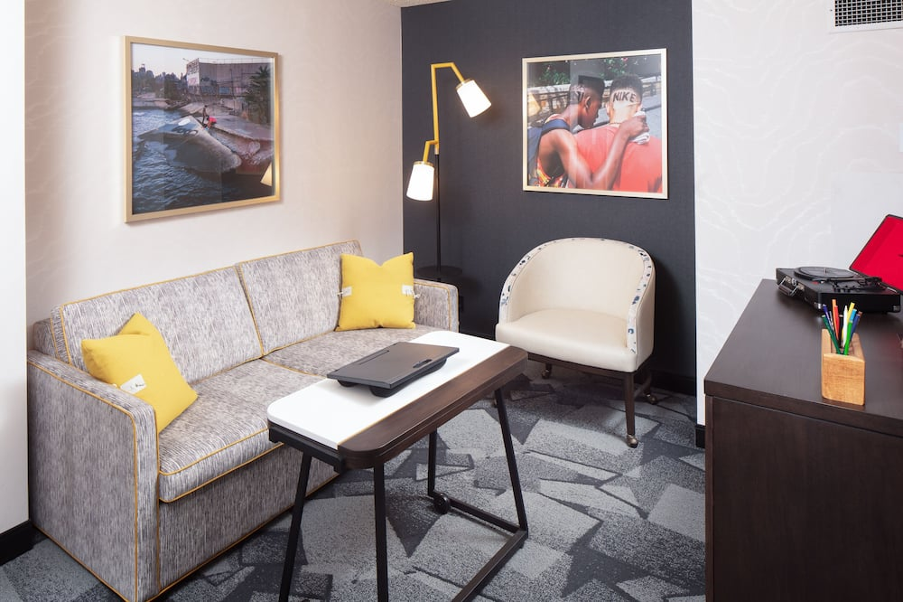 Superior szoba, kilátással a városra (The Hangout w/ Study Access) - Nappali rész