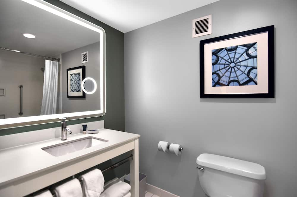 ห้องดีลักซ์, เตียงคิงไซส์ 1 เตียง, ปลอดบุหรี่, ไม่มีวิว - ห้องน้ำ