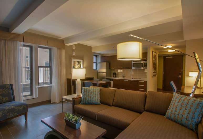 紐約曼哈頓/曼哈頓東區萬豪原住飯店, 紐約, 套房, 1 間臥室, 邊間, 客房