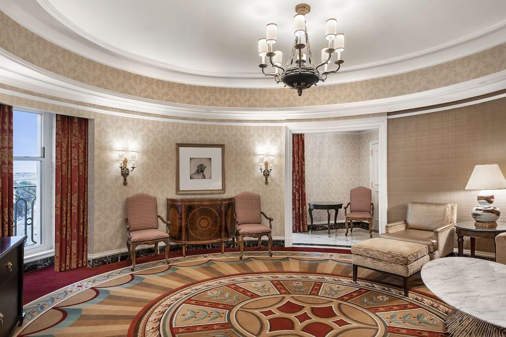 Suite, 1 chambre, avec vue (OVAL SUITE VIEW) - Coin séjour
