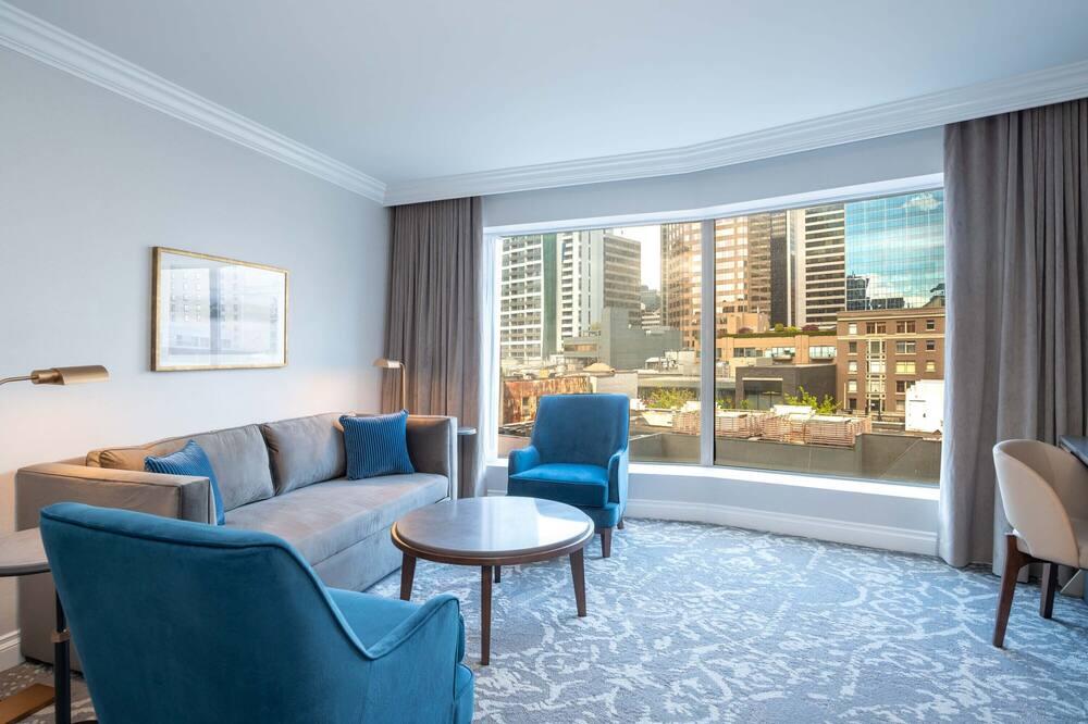 頂級套房, 1 張特大雙人床 - 客廳